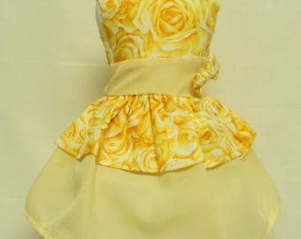 Yellow Tiered Dress  for 18 inch doll like the American Girl.
