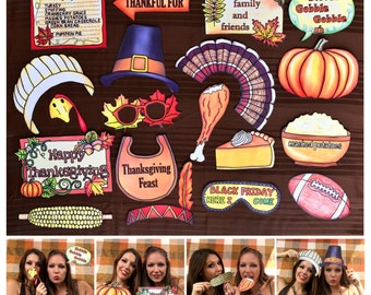 festive Thanksgiving photo booth props - perfect for your Thanksgiving dinner with family and friends