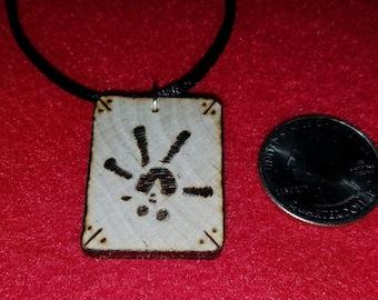 Rat Paw Print Necklace