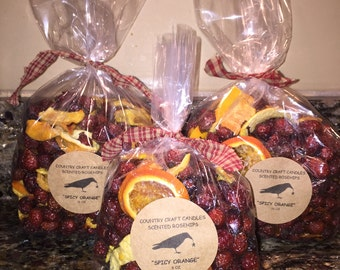 Bag of Scented Rosehips with Apples or Oranges with Cinnamon Potpourri