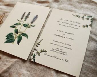 Herbal Wedding Invitation Collection