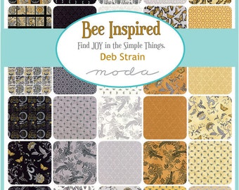 Bee Inspired Charm Pack by Deb Strain for Moda