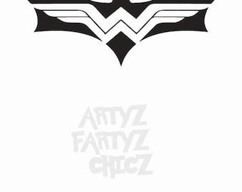 Batman Wonder Woman Logo ***Digital Item Only*** Clipart digital download svg, png, dxf, eps, pdf