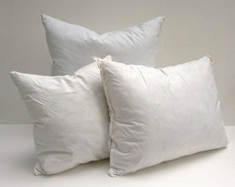 Faux Down Pillow Form Insert, Synthetic, Non-Allergenic