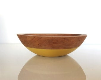 Small Cherry Wood Personal color dipped snack bowl, serving bowl, cherry wood bowl by willful
