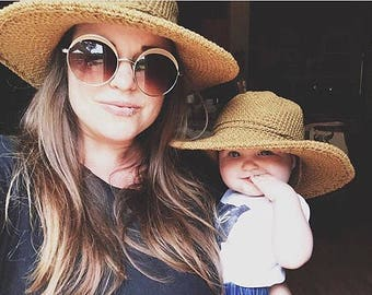 Matching Sun Hats for Mom and Baby, Baby Sun Hat, Womens Hats, Beach Hats, Cotton Sun Hat, Hat with Brim, Kids Hats