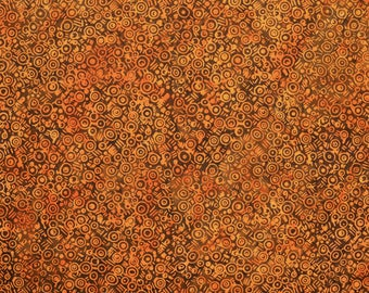 Batik By Mirah Fabric Tea Four Two Bali Gold Topaz Hand-dyed Quilting Sewing