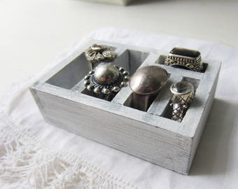 One Ring Display Block - Ring Photo Prop - Ring Storage - Ring Shadowbox - Retail Jewelry Display - Qty - Ready to Ship