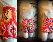 RESERVED 40s Island Vintage High waist shorts 24 34 great colors sexy pinup