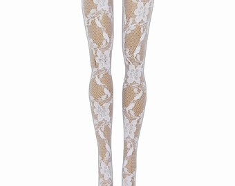 Monster High Doll Stockings - White Lace - Doll Clothes - All Sizes