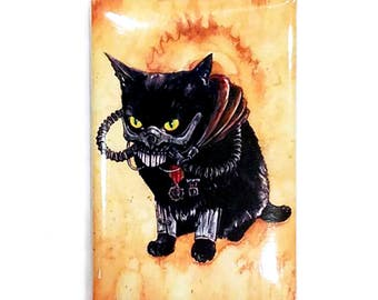 Immortan Diesel Magnet: Watercolour Black Cat Mad Max