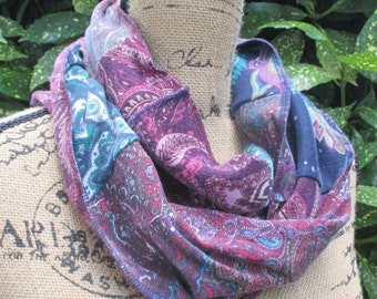 Colorful Infinity Scarf - Gift Ideas for Wife - Boho Paisley Scarf - Cotton Clothes for Women - Online Fashion - Casual Attire