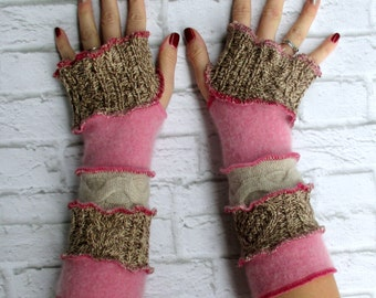 Fingerless Gloves - Graduation Gift Ideas for Teenage Girls - Rose Tan - Women's Clothing Online - Birthday Present for Wife - Cool Clothes
