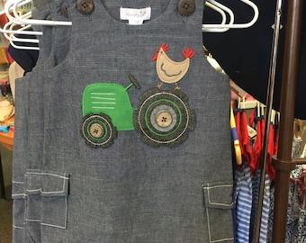 monogram Tractor Shortall, Farm Birthday