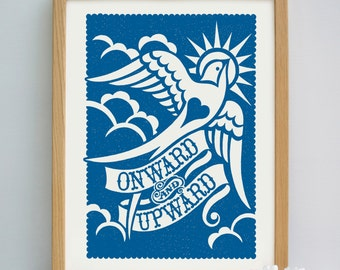 Onward and Upward Print   Leaving Gift   Encouragement Print   New Job Gift   New Start Gift   Moving Gift   Going Away Gift   New Home Gift