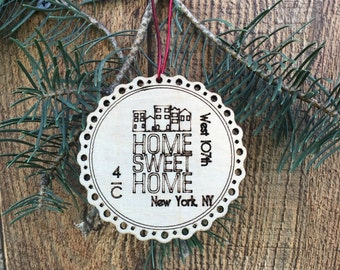 Rustic Our First Apartment Ornament First Apartment Christmas Ornament New Apartment Gift New Apartment Ornament Gift Housewarming Gift