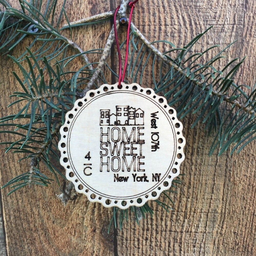 Rustic our first apartment ornament first apartment christmas for First apartment ornament