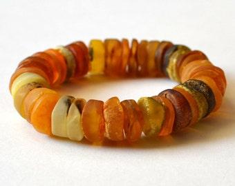 Amber Bracelet, Baltic Amber / Gold Amber Jewelry / Organic Pure Nature / Natural Amber