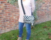 Messenger bag in animal print JUST REDUCED last one. Cross body bag. iPad bag. Shoulder bag in faux zebra