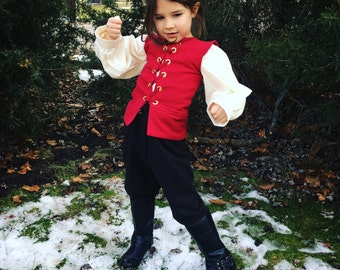 Boys Renaissance clothing, theatre costume, renaissance garb, boys clothing, poet shirt, boys pirate costume, costumes for kids,