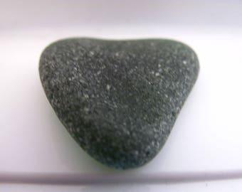 Sea glass heart green beach glass