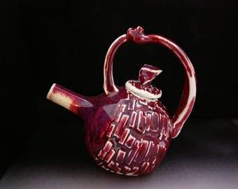 ChingWenArts handmade porcelain Teapot Vase Pot, #E199