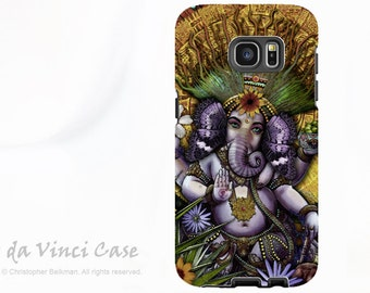 Ganesha Galaxy S7 EDGE Case - Premium Dual Layer Samsung Galaxy S 7 EDGE Case with Mayan Ganesh Fusion Art
