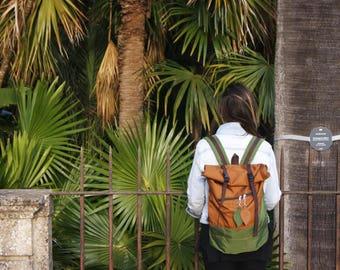 CUSTOM Leaf Laptop Backpack / College Backpack / Waterproof Backpack / Unisex Rucksack / Hipster Backpack / Boho Backpack/ 15in Laptop Bag /