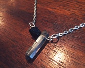 Black Tourmaline, Smoky Quartz Energetic Protection, Confidence and Positivity Necklace - Reiki Infused