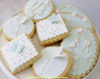 Butterfly and Flower Cookies for birthdays, showers, or weddings