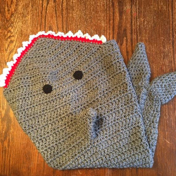 Shark Tale Cocoon Crochet Pattern Free : Crochet Shark Tail Blanket Child size Cocoon fun blankets
