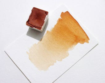 French Orange Ochre - Handmade Watercolor Paint