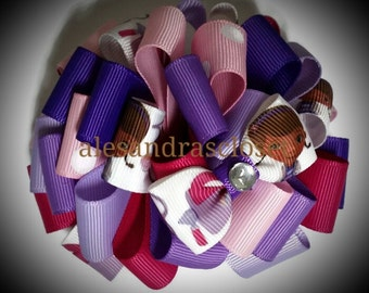 Doc McStuffins 4 Inch Large Fancy Loopy Hair Bow Girls Teen Toddler Birthday Party Special Bows