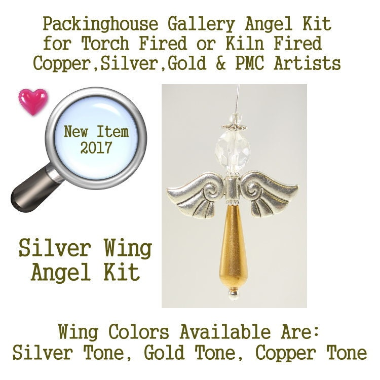 Angel Kit (Silver Wing) use it as Angel Necklace, Angel Ornament, Car Angel, Angel Christmas Ornament, Angel Fan Pull, Angel Phone