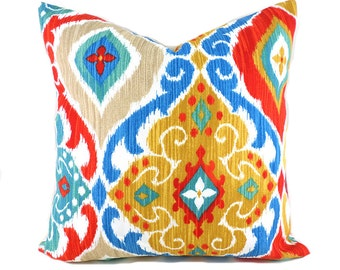 Outdoor Pillows Outdoor Pillow Covers Decorative Pillows ANY SIZE Pillow Cover Turquoise Pillows Richloom Outdoor Fresca Fiesta