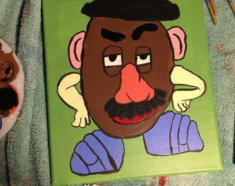 10 x 12 Acrylic Mr Potato Head Painting