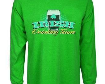 Funny St Patricks day t-shirt Irish drinking team bar crawl