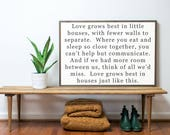 FLASH SALE- Love Grows Best 3x2- Ready to SHIP
