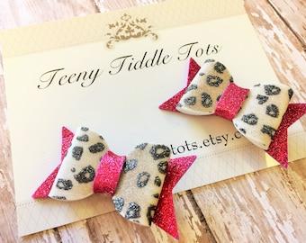 Foam Leopard Print Hair Bow - Printed Foam Hair Bow - Foam Hairbow - Foam Bow - Hot Pink Leopard Hairbow