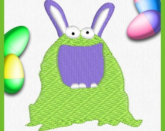 Easter Bunny, Easter Bunny Monster Embroidery Design