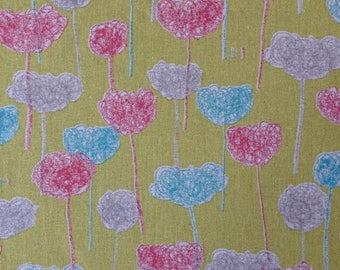 Abstract flower print japanese cotton.
