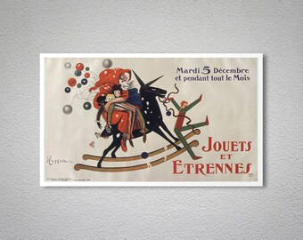 Jouets et étrennes Vintage Poster by Leonetto Cappiello - Poster, Sticker or Canvas Print