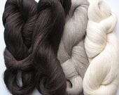 Linen Yarn Dark Brown Natural Gray Cream 380 gr (13.3 oz ), Cobweb / 1 ply, each hank contains approximately 2700 yds