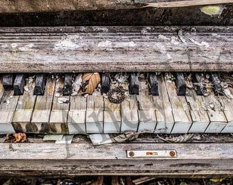 Weathered Piano - framed