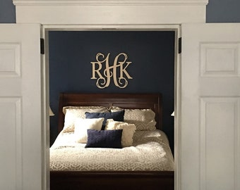 Monogram Wall Letters, Wooden Monogram Door Hanger, Monogram Door Wreath, Wooden Monogram Wall Hanging Letters any size available