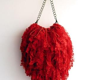 "Big red Handbag ""Nuvola"" for ceremonies (exclusive)"