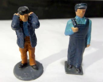 Britains/Barclay/JoHill Co - Lead Toy - Two Workers - Small Size