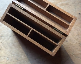 Oak Storage Box Unique Great for Desk Storage