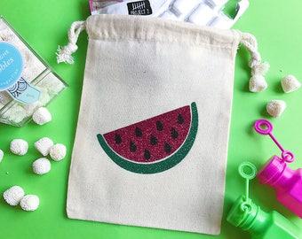 Watermelon bag- party favor bag- wedding favor bag- party favors- destination birthday favor- oh shit kit- hangover kit- birthday kit