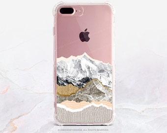 iPhone 7 Case Rocky Mountains Clear GRIP Rubber Case iPhone 7 Plus Case iPhone 6 Case iPhone 6S Case iPhone SE Case Samsung S7 Edge U208